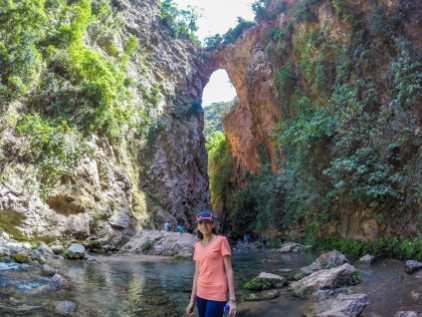 Hind in front of God's Bridge