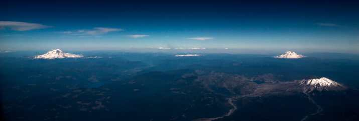 View from the flight in