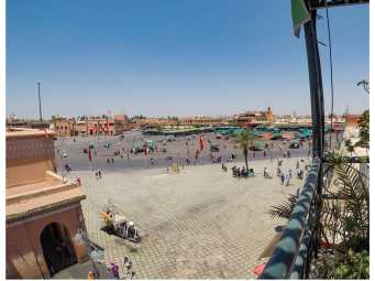 Looking out over Jemaa el-Fnaa
