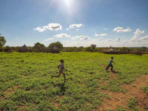 Children in a village near the Zambezi