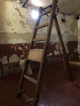 The frame against which prisoners were beaten