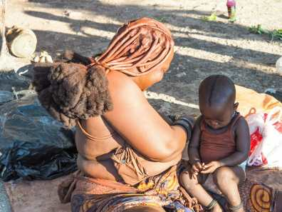 Himba woman & her baby