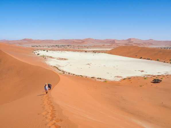 Climbing up the dune