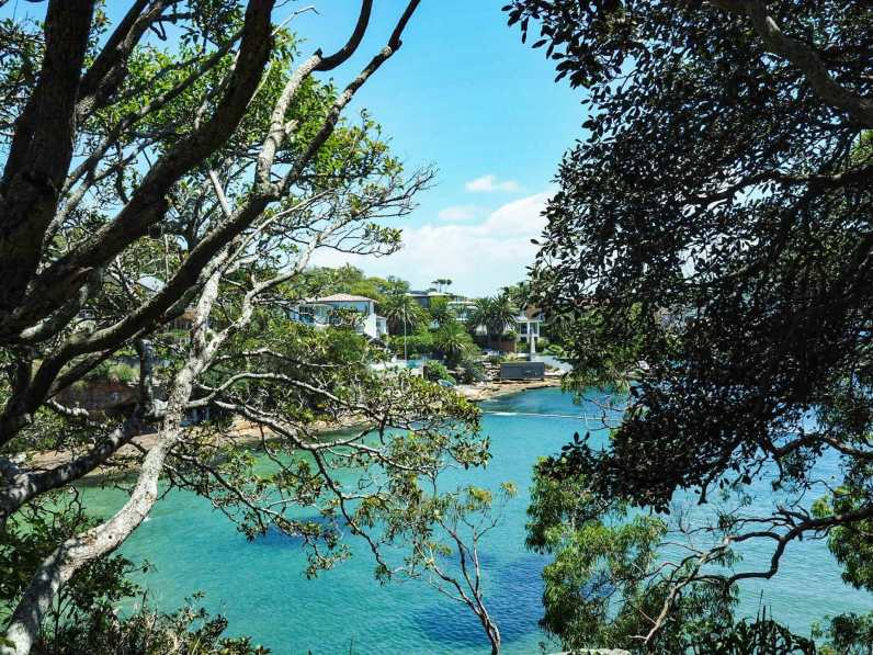 Peaking out onto Parsley Bay
