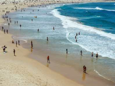 Just a few people on Bondi today