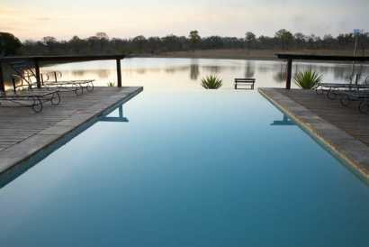 Infinity pool overlooking the waterhole