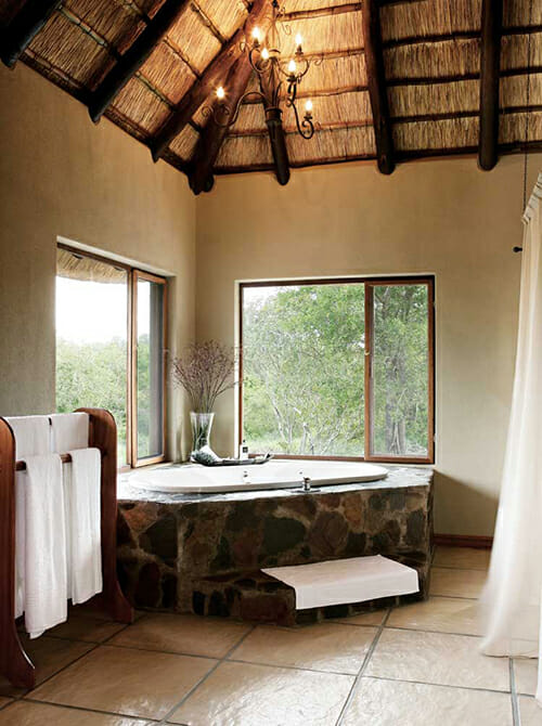 Bathtub overlooking the bush