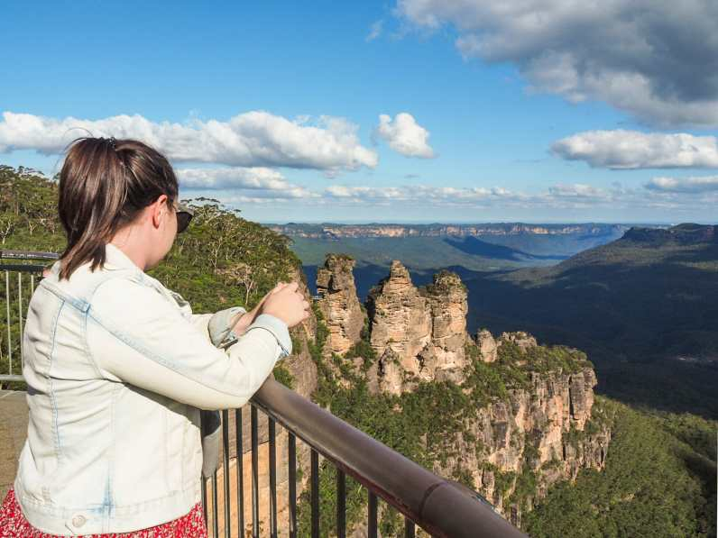 Lucy admiring the Three Sisters