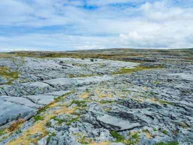 A great expanse of barren, karst landscape