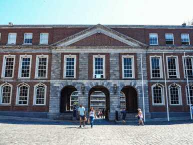 The very un-castle-y Dublin Castle