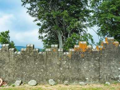 The remains of an old castle