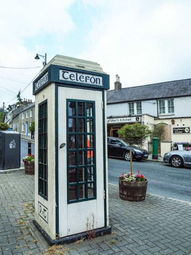 Adorable little phone booth in Enniskerry