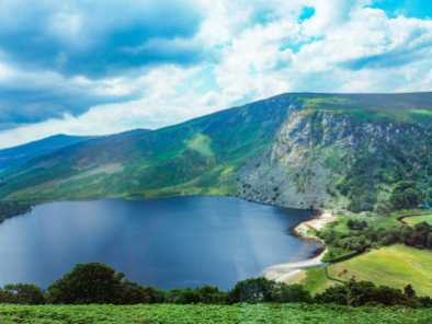 Lough Tay from the car
