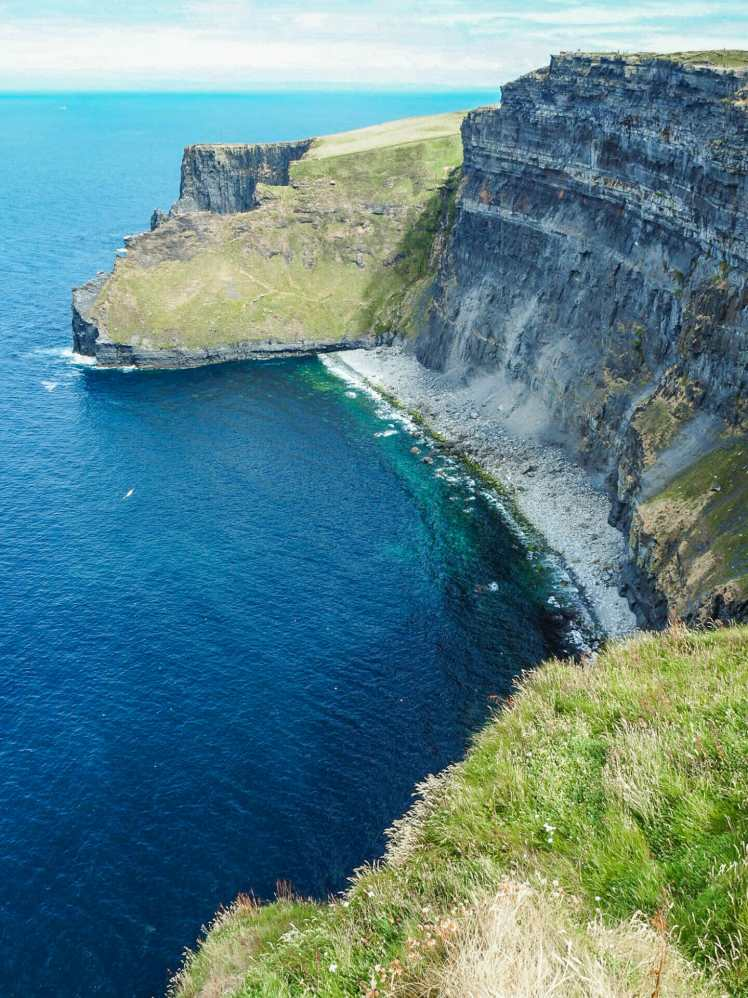Looking down at the Cliffs below