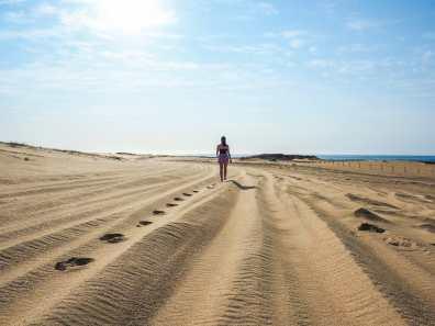 Early morning sun on the Stockton Sand Dunes
