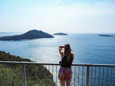Diana enjoying the view