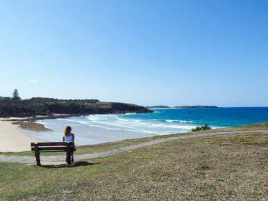 Diana enjoying the view over Emerald Beach