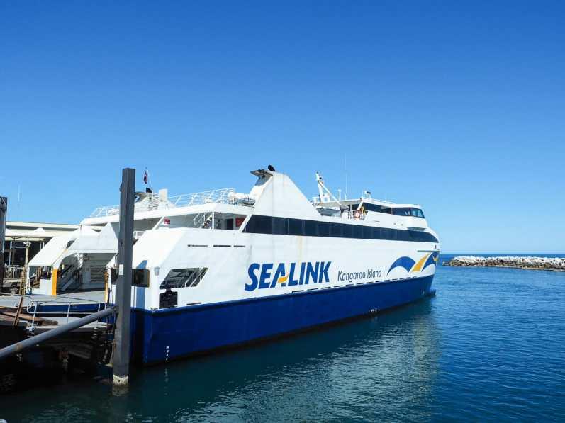 Our Sealink vehicle ferry to KI