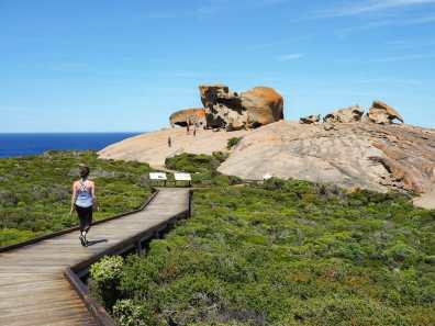 Strolling off towards Remarkable Rocks