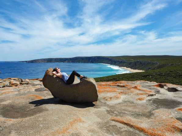 Working on my sunburn at Remarkable Rocks