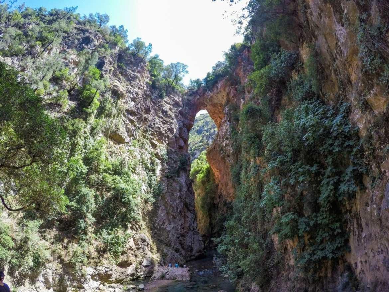 Natural rock bridge at Akchour Morocco