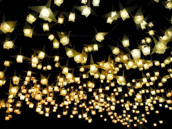 1,000 Cranes art installation