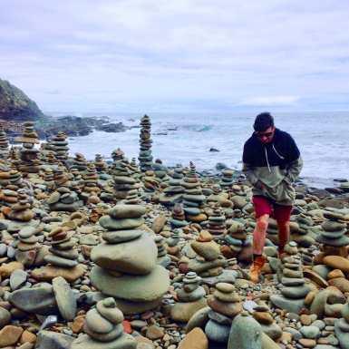 The rock stacks at Carisbrook Creek