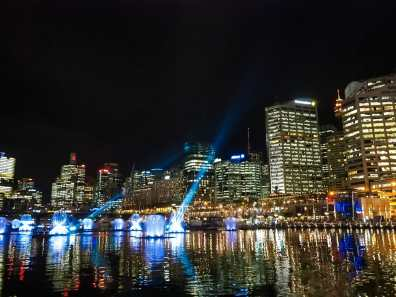 Incredible lights at Darling Harbour