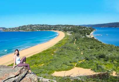 Looking out over Palm Beach from Barrenjoey Lighthouse