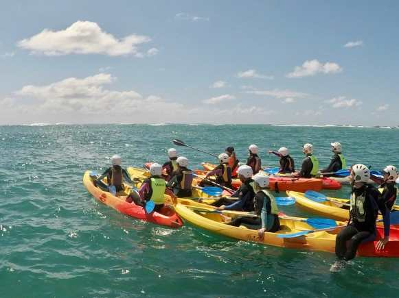 Our kayaking group