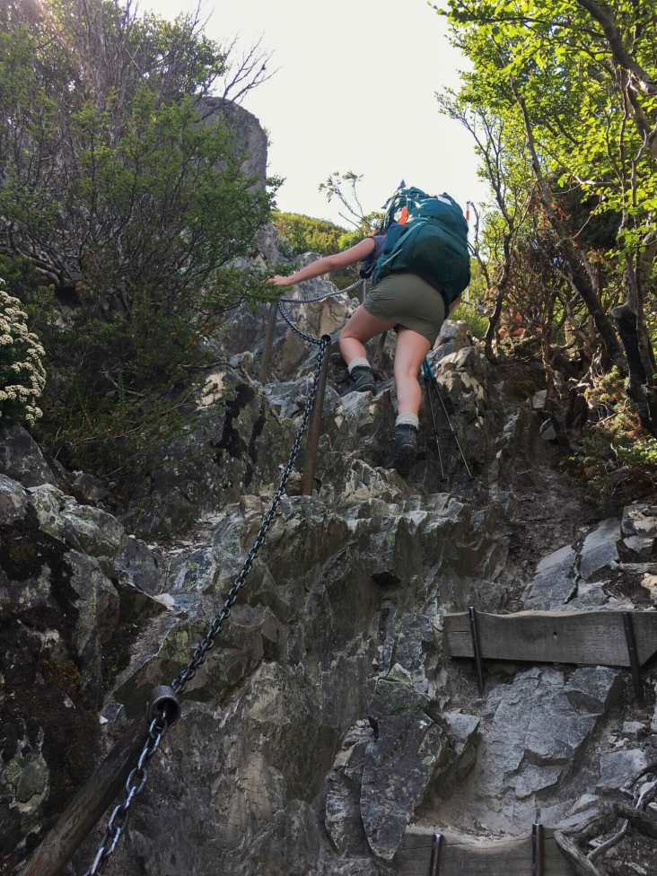 Climbing up to Marions Lookout
