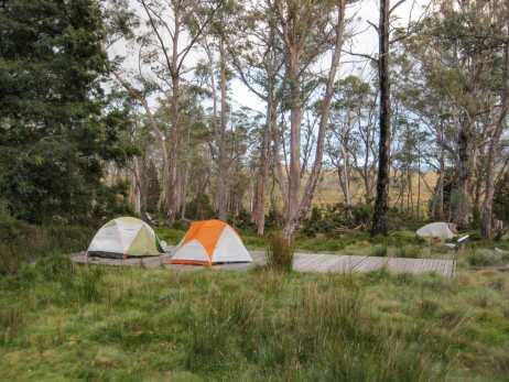 Camping at Pelion Hut