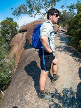 Callum sweating on Mt Amos