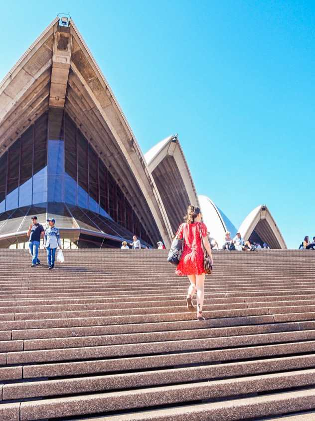 Stroll up the Opera House steps