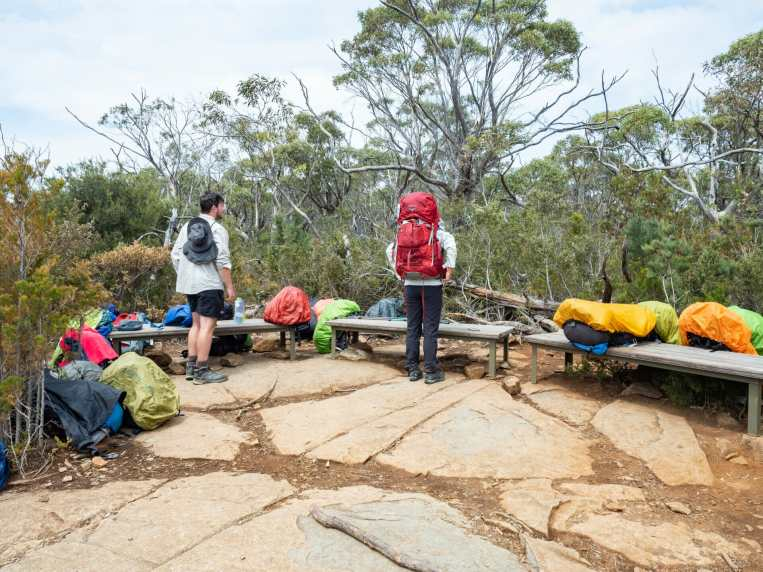 Grabbing our packs and continuing onwards to Fortescue Bay