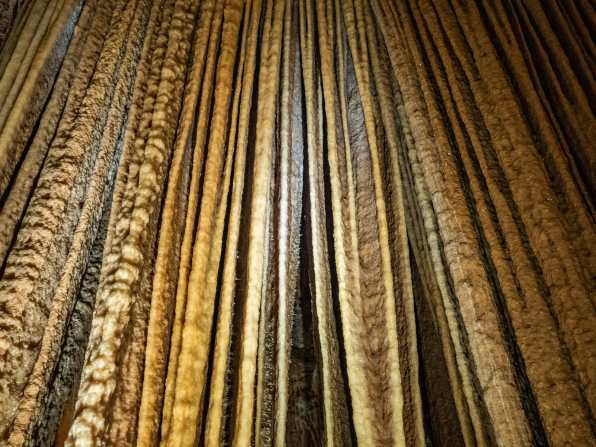 These curtains formed and crystallised over thousands of years