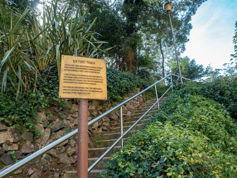 The start of the Six Foot Track at Jenolan Caves