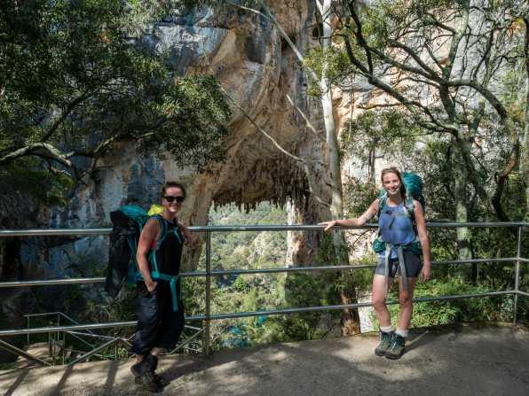 Me and Barbara at Carlotta Arch