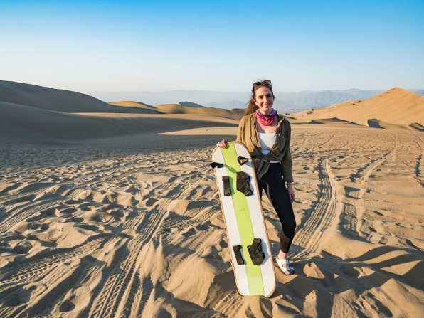 Sandboarding in Huacachina