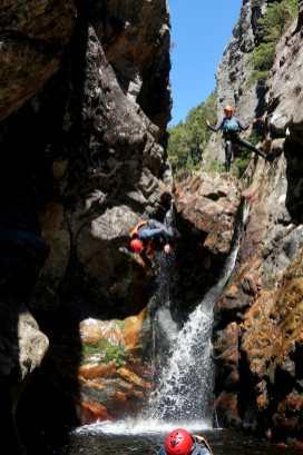 Callum backflipping into Dove Canyon