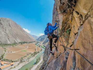Via ferrata climbing in Peru's Sacred Valley