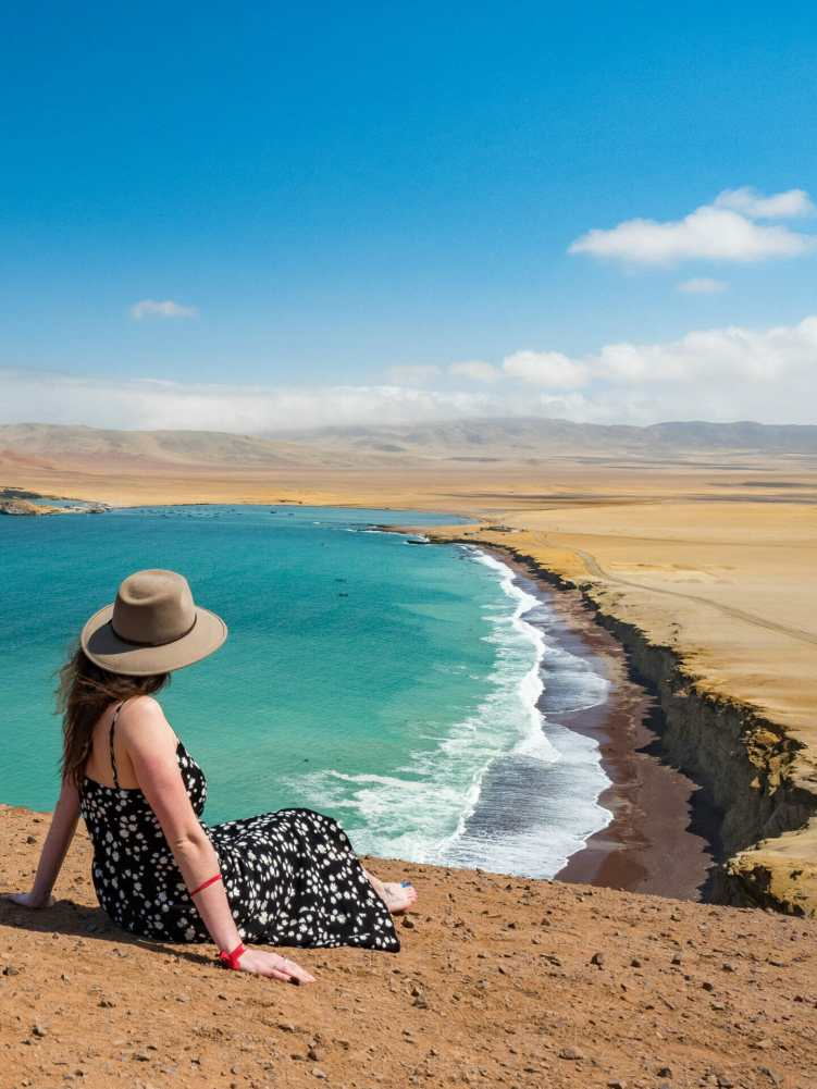 Admiring the Pacific Coast from Paracas Nature Reserve
