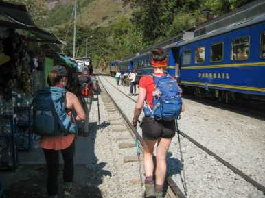 Train tracks all the way to Aguas Calientes