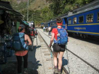Train tracks all the way to Aguas Calientes