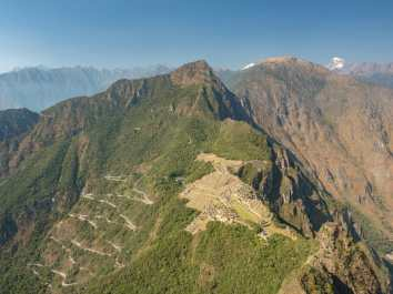 The view of Machu Picchu from Huayna Picchu