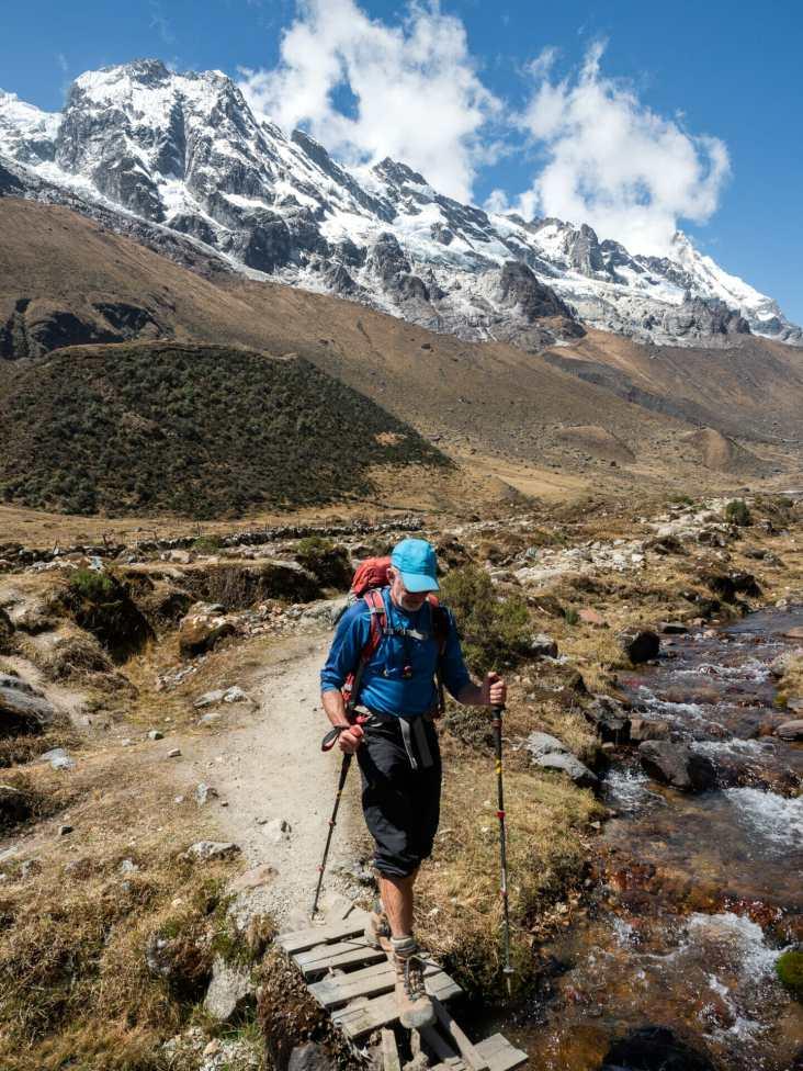Dad descending Salkantay Pass