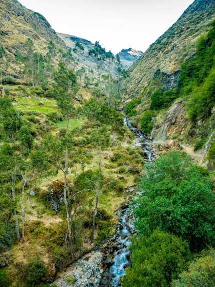 Lush scenery out of Huayllapa