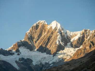 Alpenglow on Jirishanca