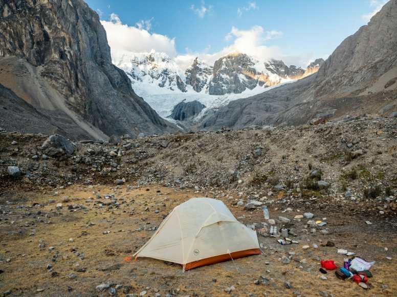Camping at the base of Jurau