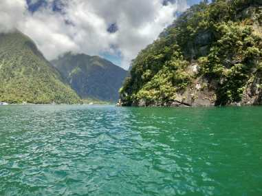 Our first dive spot in Milford Sound